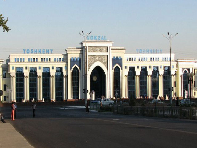 The railway station of Uzbekistan