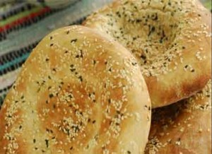 Flat Bread With Sesame and Blackseeds