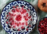 Pomegranate and onion salad
