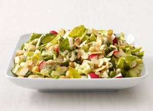 Vegetable and chickpea salad