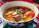Meat broth with vegetables