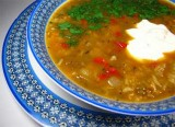 Mung bean and rice soup